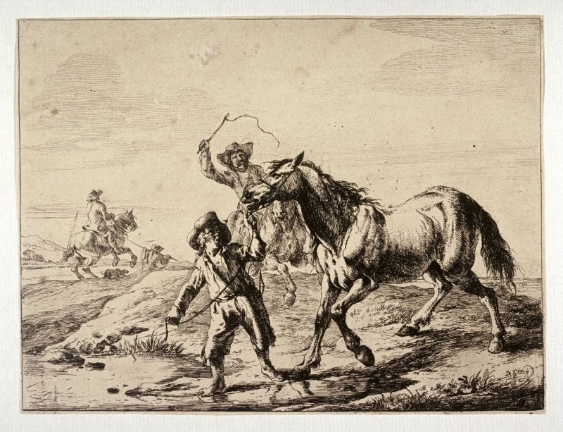 Peasants Leading a Horse to Water