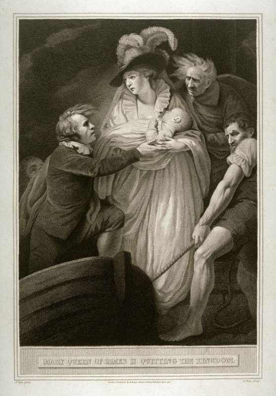 Mary Queen of James II Quitting the Kingdom
