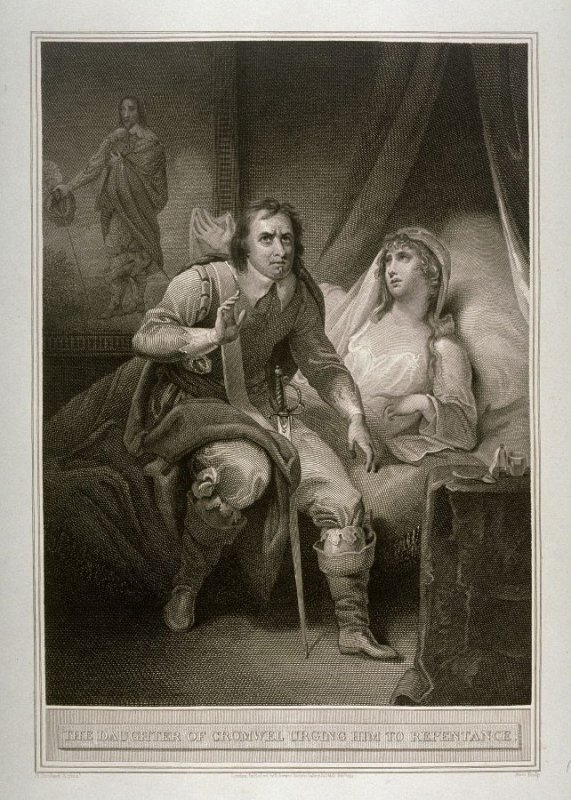 The Daughter of Cromwel Urging Him to Repentance