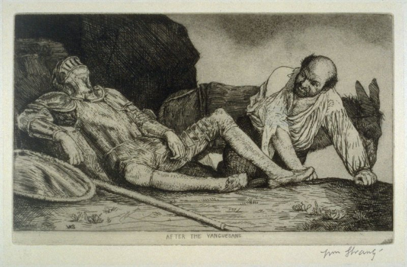 Don Quixote and Sancho Panza after the fight with the Yanguesans - The Don Quixote Series