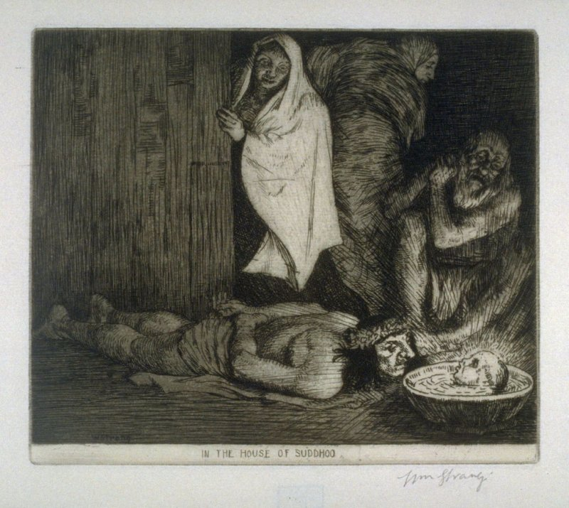 In the House of Suddhoo - Illustration to Plain Tales from the Hill