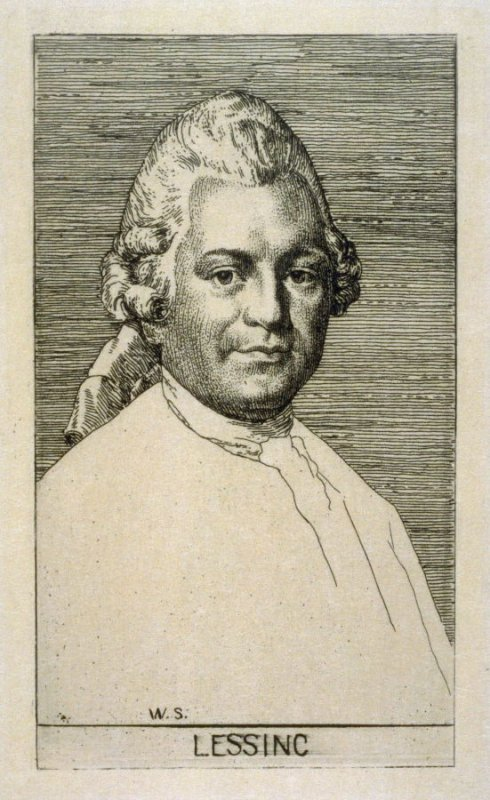 """Portrait of Lessing - Illustrations to Lessing's """"Nathan the Wise"""""""