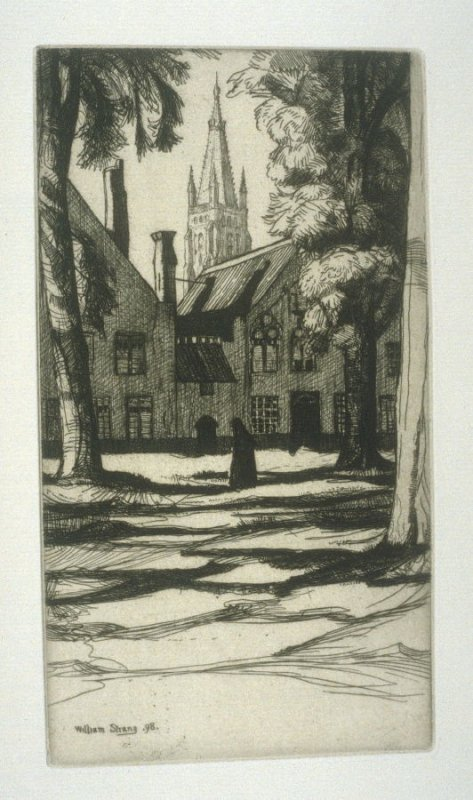 The Béguinage, Bruges, plate at p. 41, in the book, Western Flanders (London: at the Sign of the Unicorn, 1899)