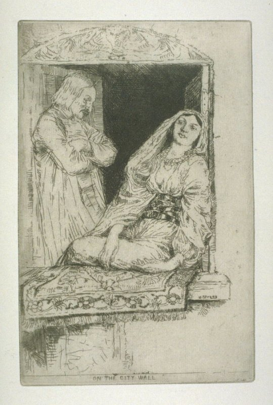 On the City Wall, plate 12 in the book, A Series of thirty Etchings … illustrating Subjects from the Writings of Rudyard Kipling (London: Macmillan, 1901)