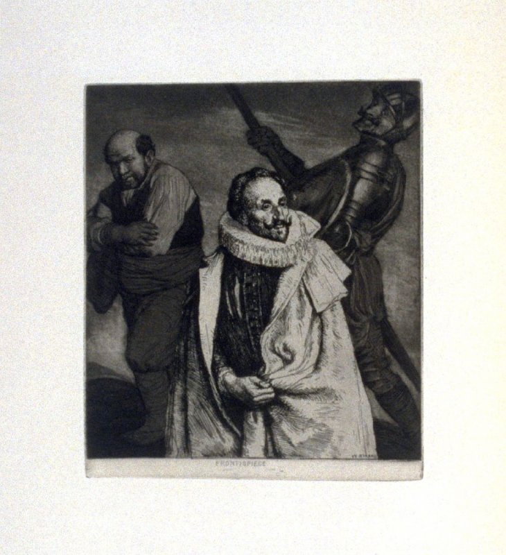 Portrait of Miguel de Cervantes…, plate1 in the book, A Series…illustrating Subjects from 'Don Quixote' (London: Macmillan and Co., 1902)