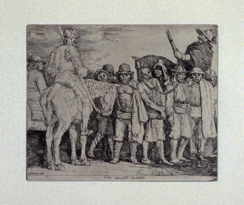 The Galley Slaves, plate 13 in the book, A Series…illustrating Subjects from 'Don Quixote' (London: Macmillan and Co., 1902)