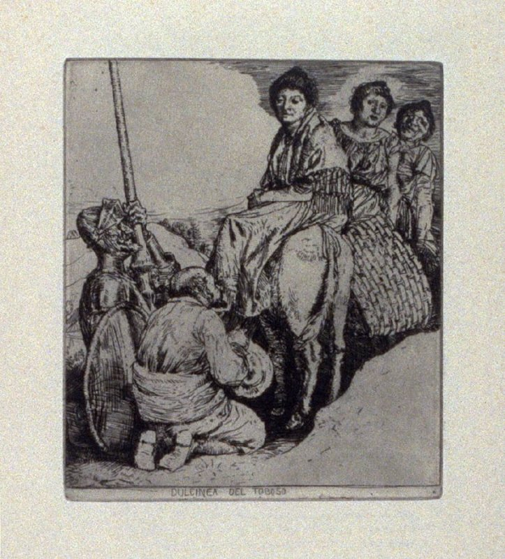 Dulcinea del Toboso, plate 18 in the book, A Series…illustrating Subjects from 'Don Quixote' (London: Macmillan and Co., 1902)