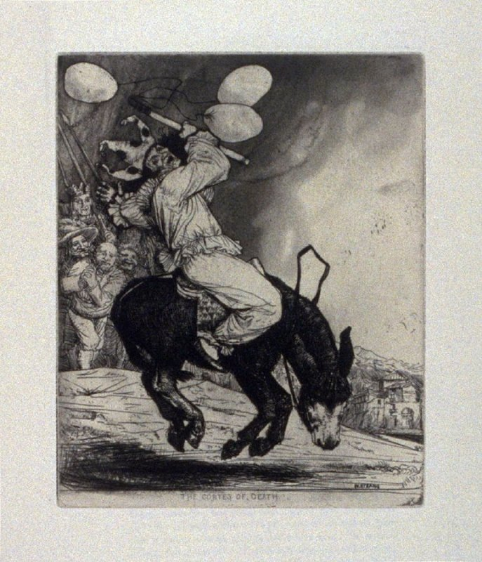 The Cortes of Death, plate 19 in the book, A Series…illustrating Subjects from 'Don Quixote' (London: Macmillan and Co., 1902)