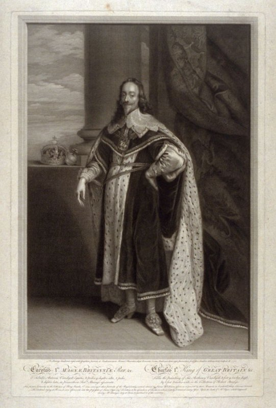 Portrait of Charles I. King of Britain