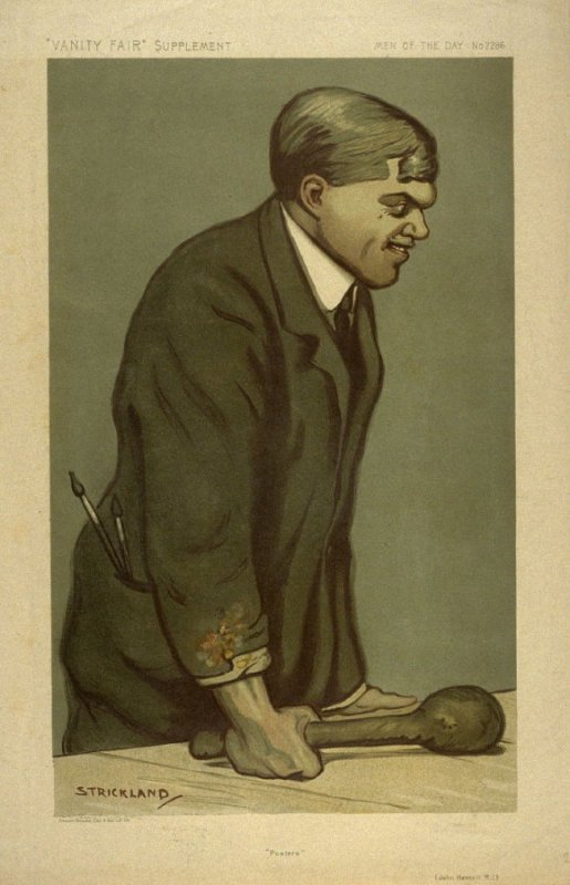 """""""Posters"""" (John Hassal R.I.) Men of the Day No. 2286, from Vanity Fair Supplement"""