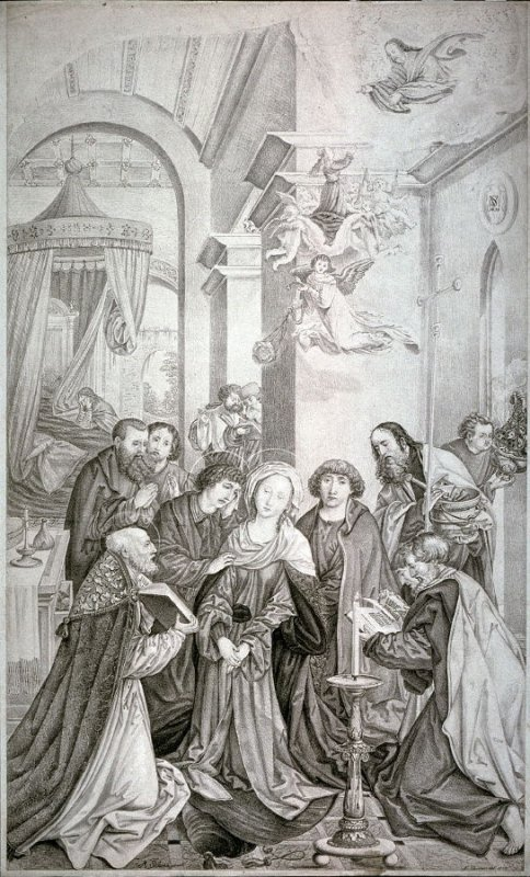 The dying Virgin with St. George and St. Nicasius
