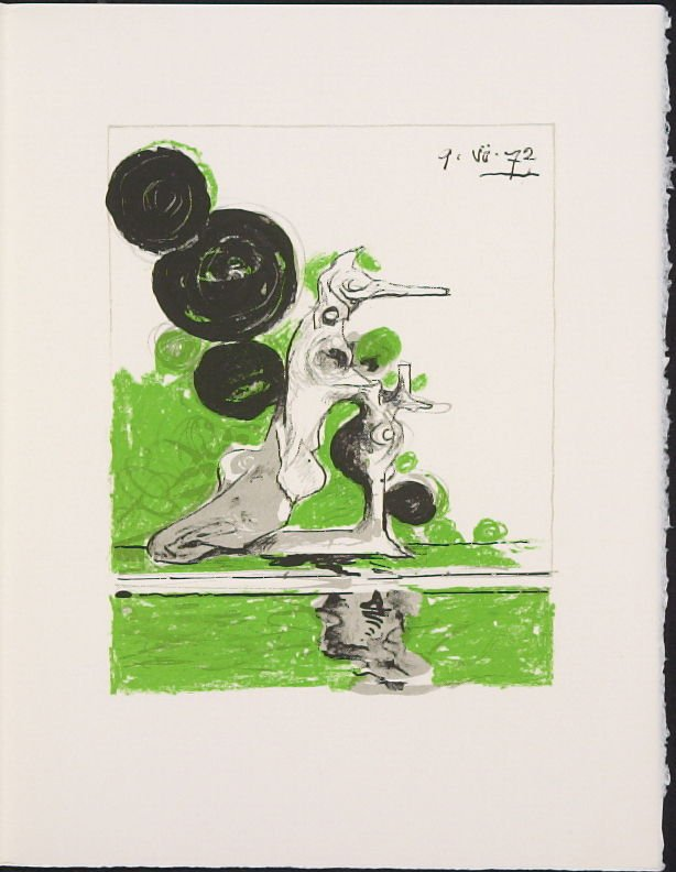 """Hybrid"" by Graham Sutherland, pg. 247, in the book Souvenirs et portraits d'artistes (Reminiscences and Portraits of Artists) by Fernand Mourlot (Paris: Alain c. Mazo, 1972 and in New York: Léon Amiel, 1972)."
