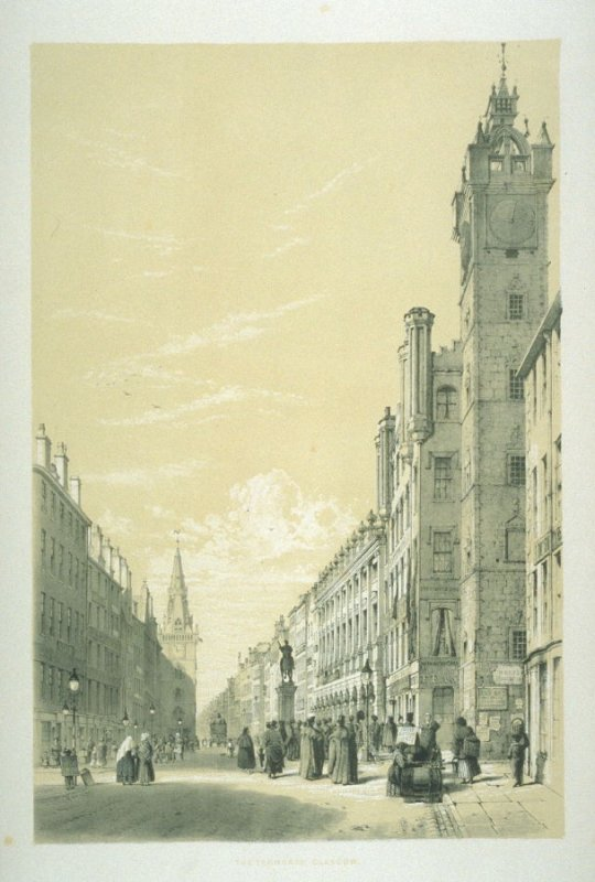 The Trongate, Glasgow, plate 3 in the book, Sketches in Scotland (London: printed at C. Hullmandel's … published by the author, 1845)