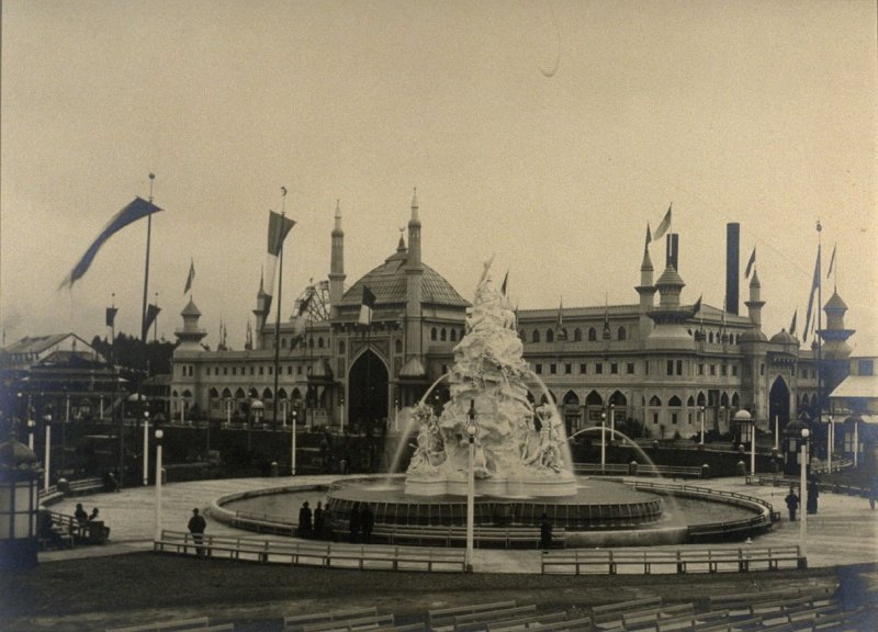 Allegorical Fountain and Mechanical Arts Building
