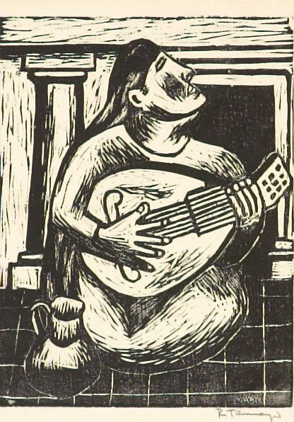 Woman with Mandolin (Mujer con Mandolin)