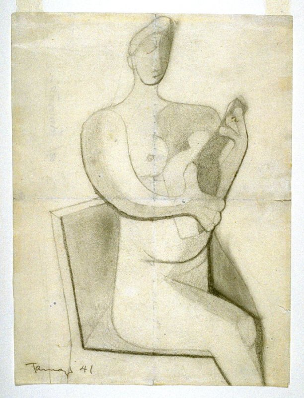 Study for Woman with Guitar