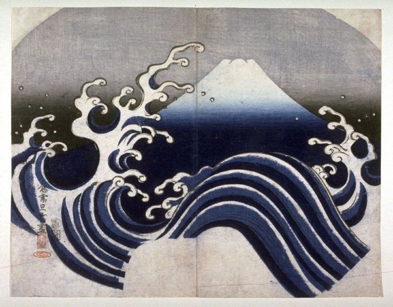 Mount Fuji and the Wave
