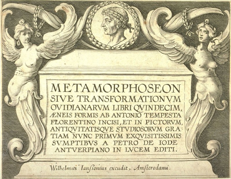Frontispiece with the Bust of Ovid, Title Page from the series Ovid's Metamorphoses
