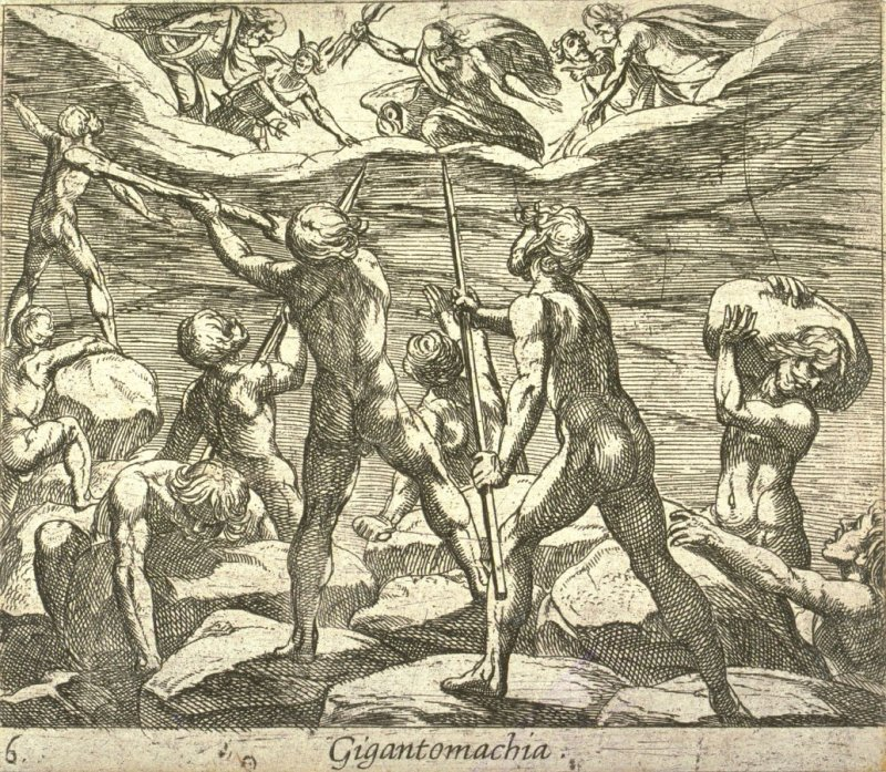 Gigantomachia (Giants Atempting to Storm Olympus), pl. 6 from the series Ovid's Metamorphoses