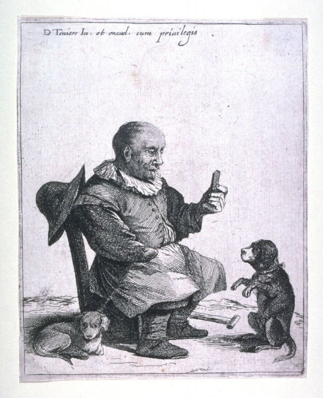 One armed dwarf with his dog
