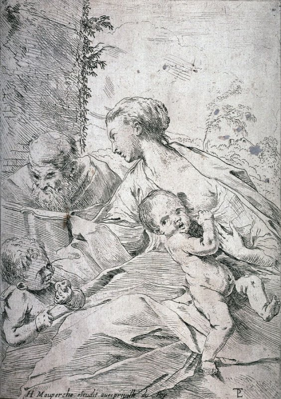 The Holy Family with the Infant St. John Holding an Apple