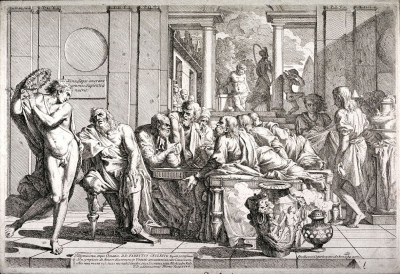 Socrates at the Table with his Friends