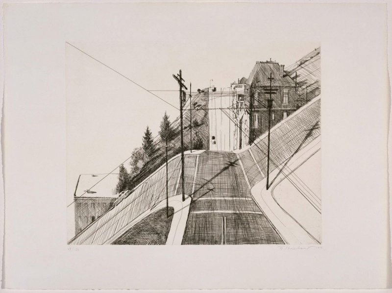 Down Mariposa, from the portfolio Recent Etchings I