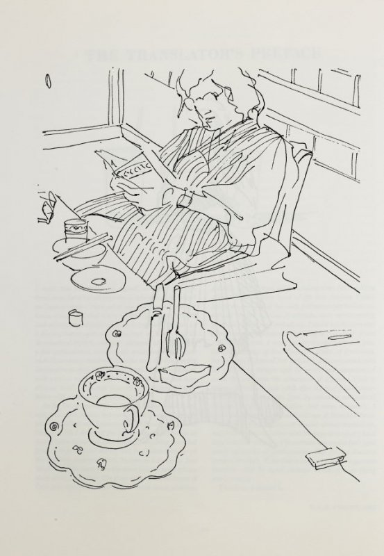 Woman reading, page 14 in the book The Physiology of Taste (San Francisco: The Arion Press, 1994)