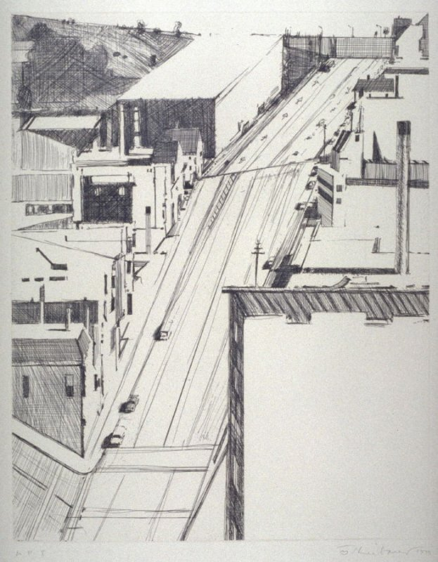 Down 18th, plate 2 from the portfolio, Recent Etchings II