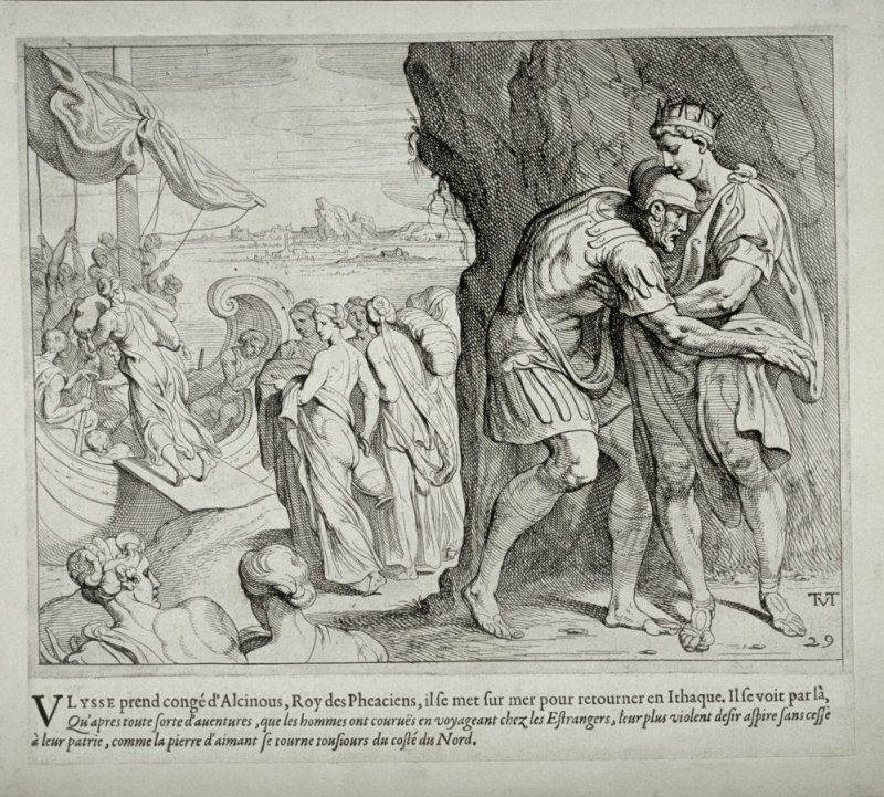 Ulysses Taking Leave of Alcinous, no. 29 from The Labors of Ulysses