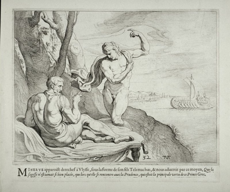 Minerva, Disguised as Telemachus, Appears to Ulysses, no. 32 from The Labors of Ulysses