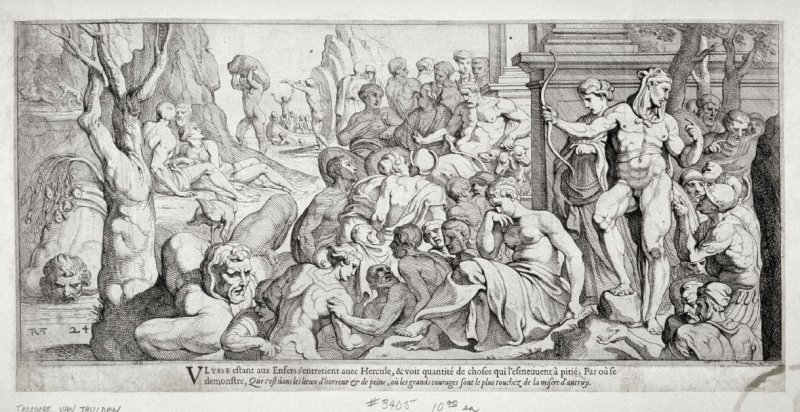 Ulysses Encountering Hercules, no. 24 from The Labors of Ulysses