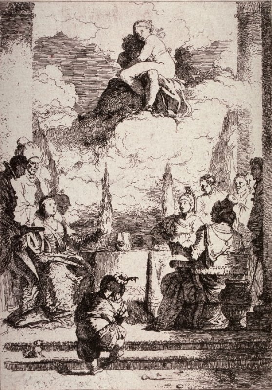 The Banquet of Cleopatra, after G.B. Tiepolo's fresco in the Palazzo Labia, Venice.