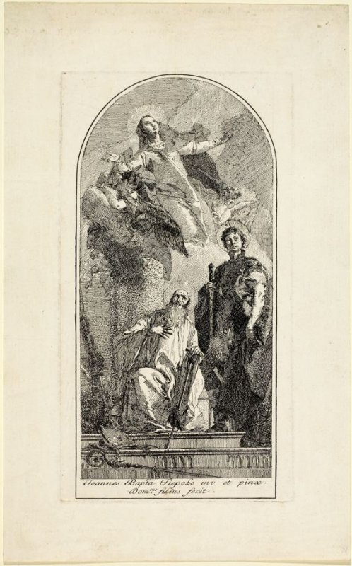 St. Anthony Abbot with the Virgin and St. George