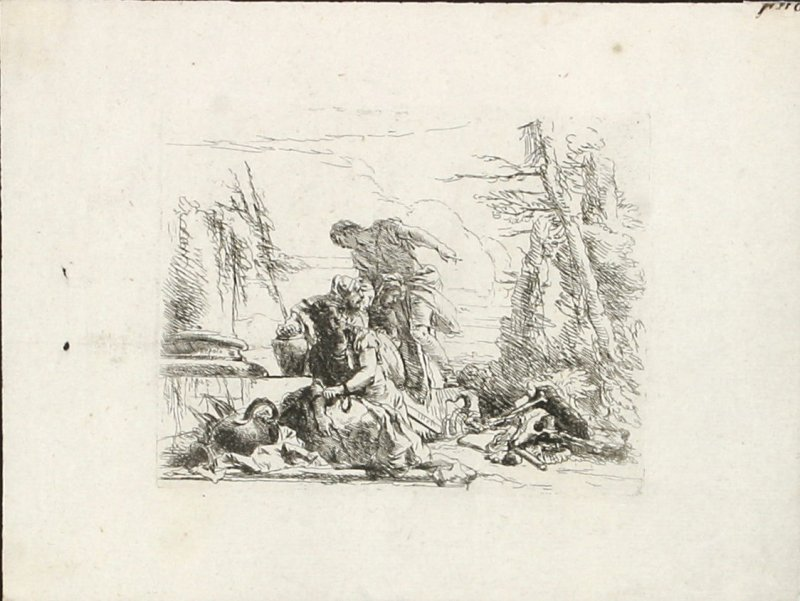 A Woman with her Arms in Chains and Four Other Figures from the series Vari Capricci
