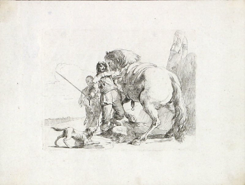 A Rider Standing by his Horse from the series Vari Capricci