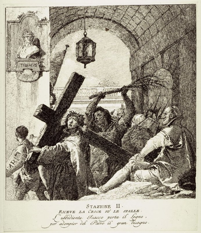 Christ receives the cross, Station 2 from the series Via Crucis (Stations of the Cross)