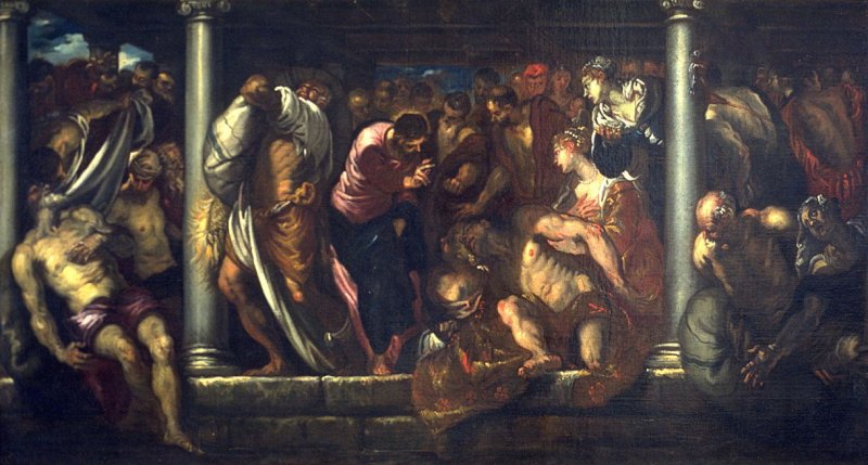 Christ at the Pool of Bethesda (study for mural in Chiesa diSan Rocco, Venice)