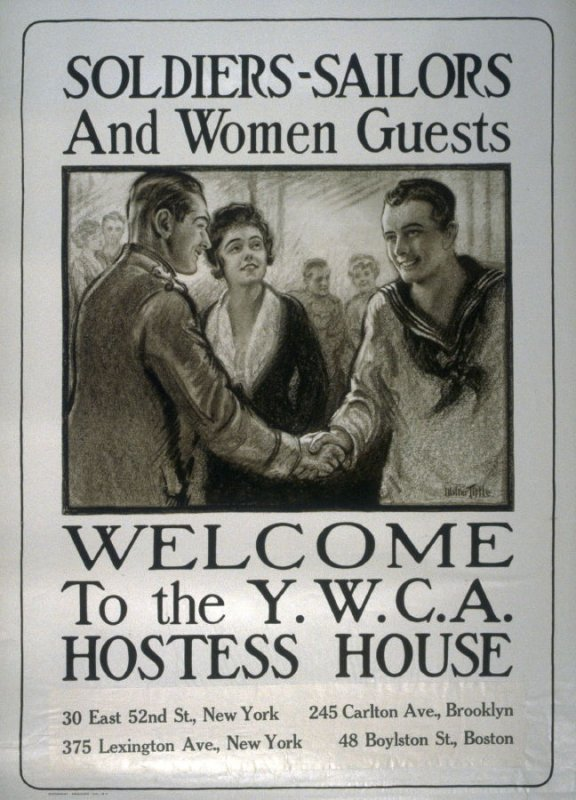 Soldiers-Sailers And Women Guests - World War I poster