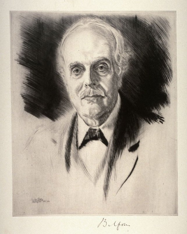 Arthur James Balfour (UK) from Portraits of International Dignitaries to the International Naval Disarmament Conference