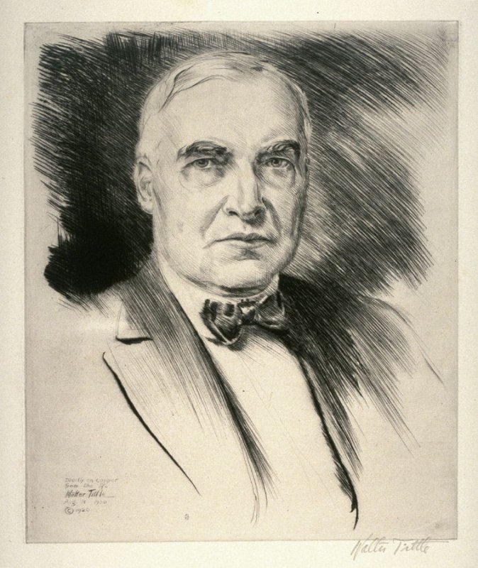 President Warren G. Harding (USA) from Portraits of International Dignitaries to the International Naval Disarmament Conference