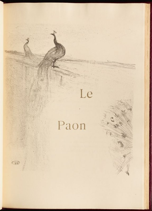 """""""Le Paon"""" (the peacock) in the book Histoires naturelles (Natural History) by Jules Renard (Paris: Henri Floury, 1900)."""
