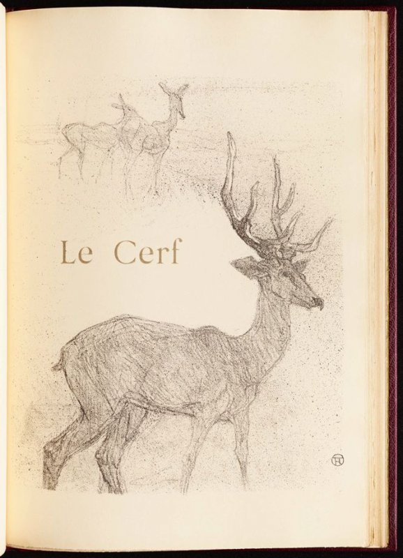 """""""Le Cerf"""" (the stag) in the book Histoires naturelles (Natural History) by Jules Renard (Paris: Henri Floury, 1900)."""