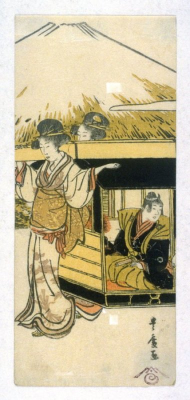 One from untitled series of procession of women past Mt. Fuji