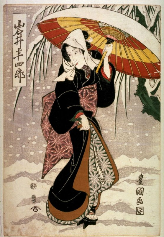 Iwai Hanshiro V as a Woman in the Snow