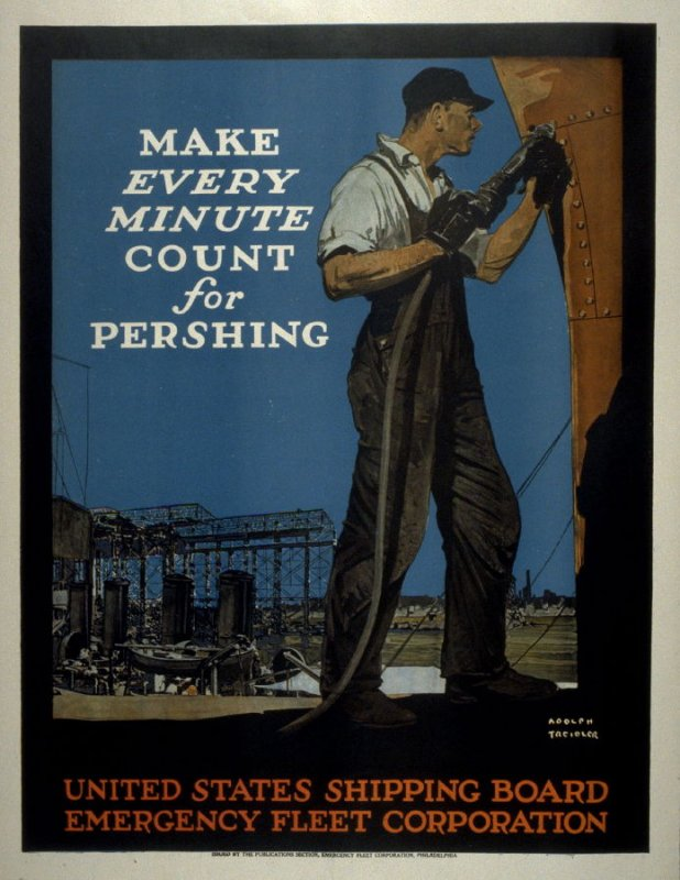 Make Every Minute Count for Pershing - World War I Poster