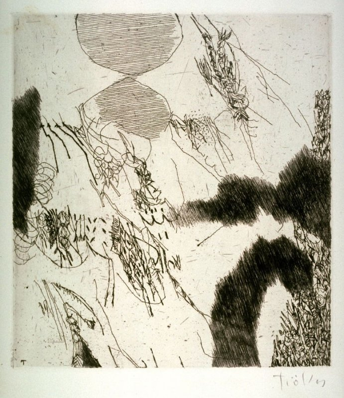 In Erdnahe (Close to Earth). From the series of ten etchings, all of them artist's proofs