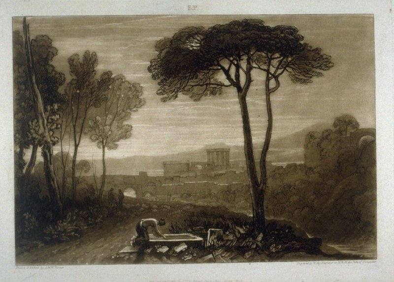 Scene in the Campagna, from Turner's 'Liber Studiorum'