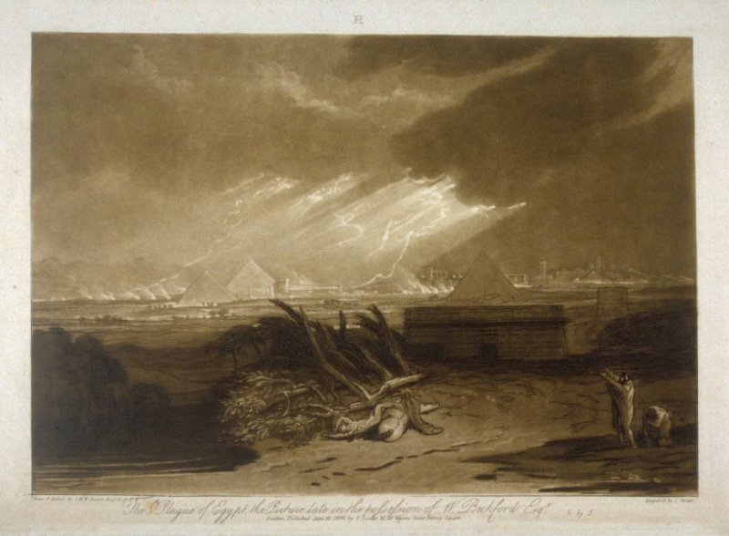 The Fifth Plague of Egypt, from Turner's 'Liber Studiorum'