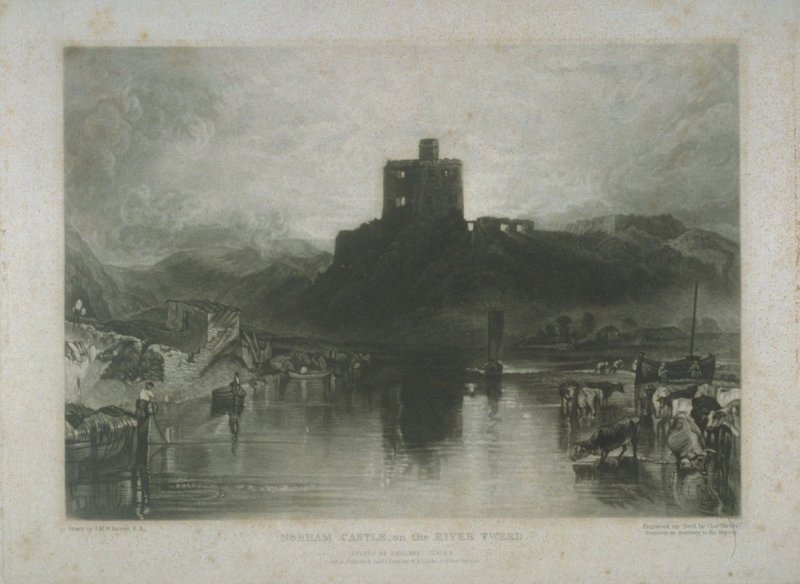 Plate 6: Norham Castle on the River Tweed, from the series 'The Rivers of England'